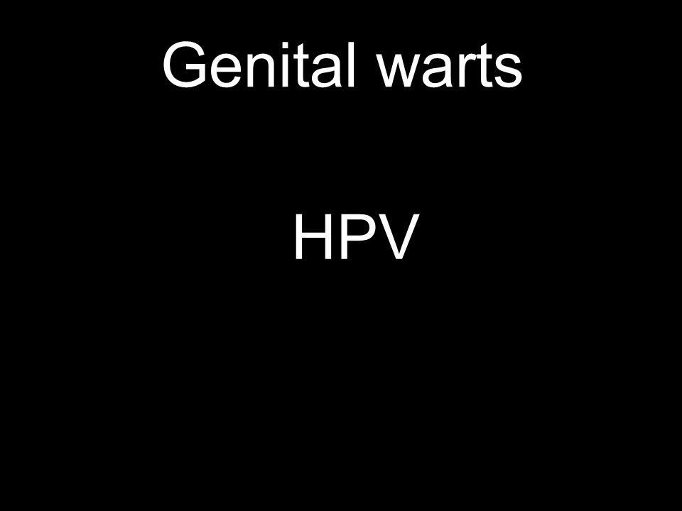 Genital warts HPV