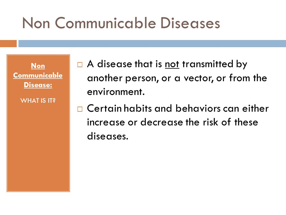 Non Communicable Diseases