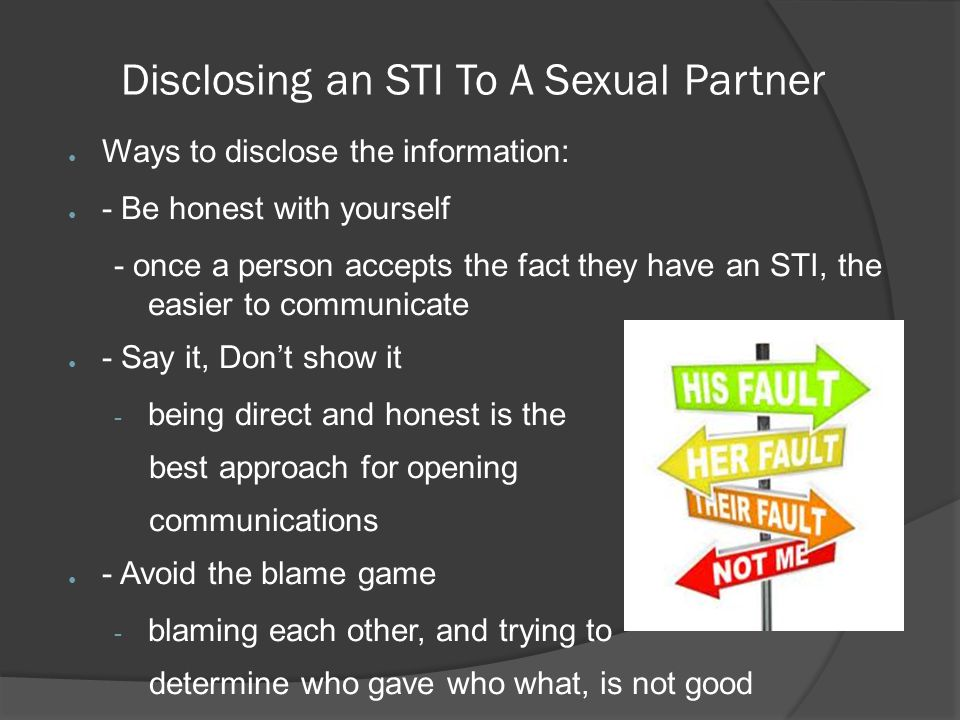 Disclosing an STI To A Sexual Partner