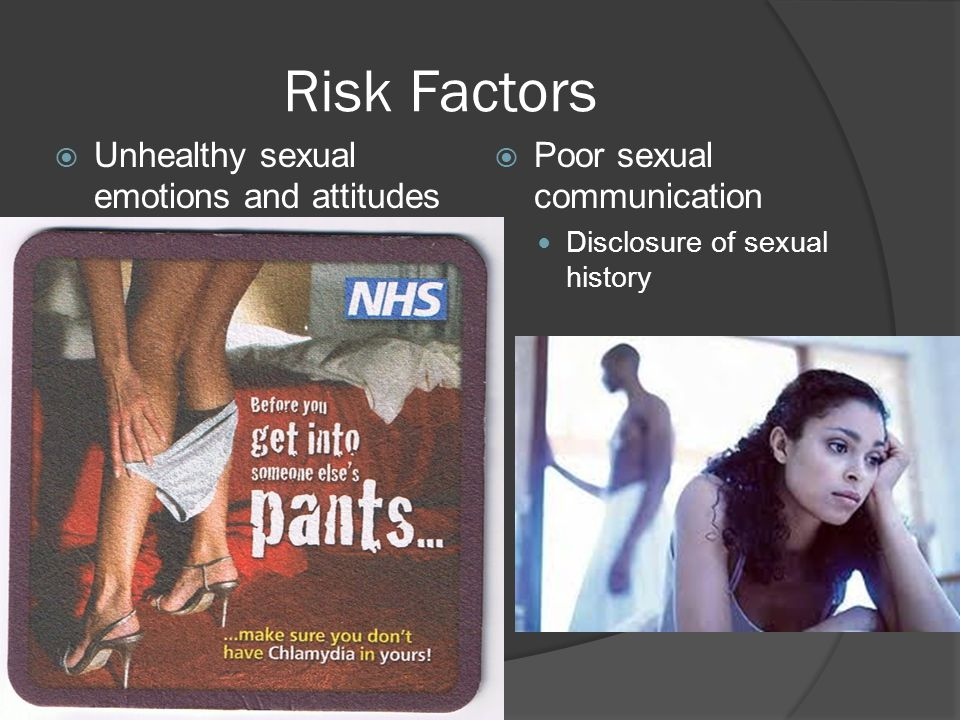 Risk Factors Unhealthy sexual emotions and attitudes