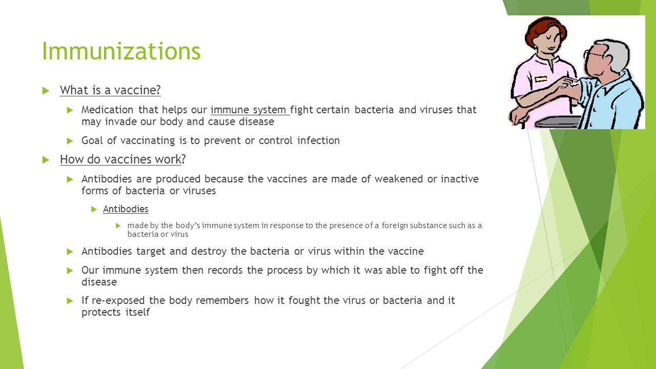 Immunizations What is a vaccine How do vaccines work