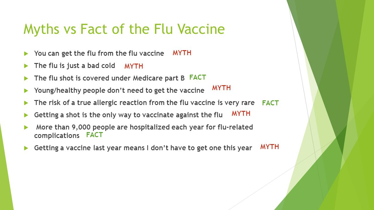 Myths vs Fact of the Flu Vaccine