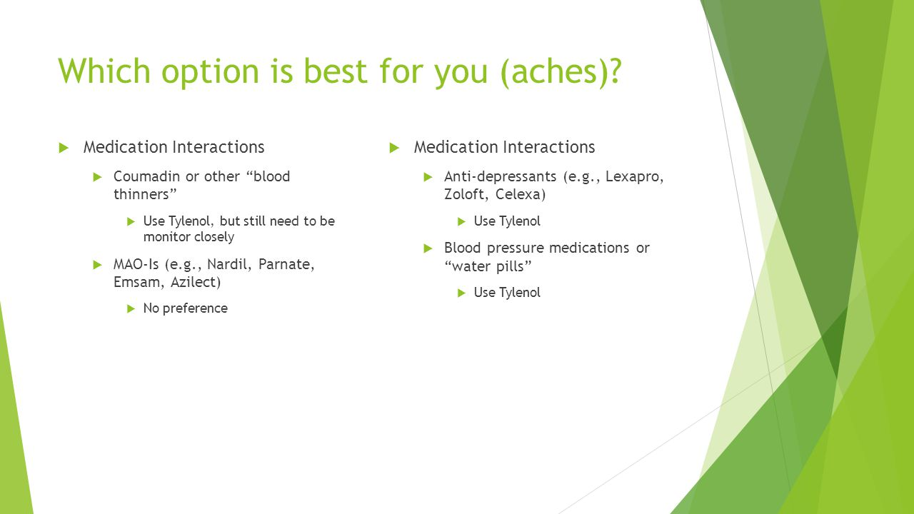 Which option is best for you (aches)