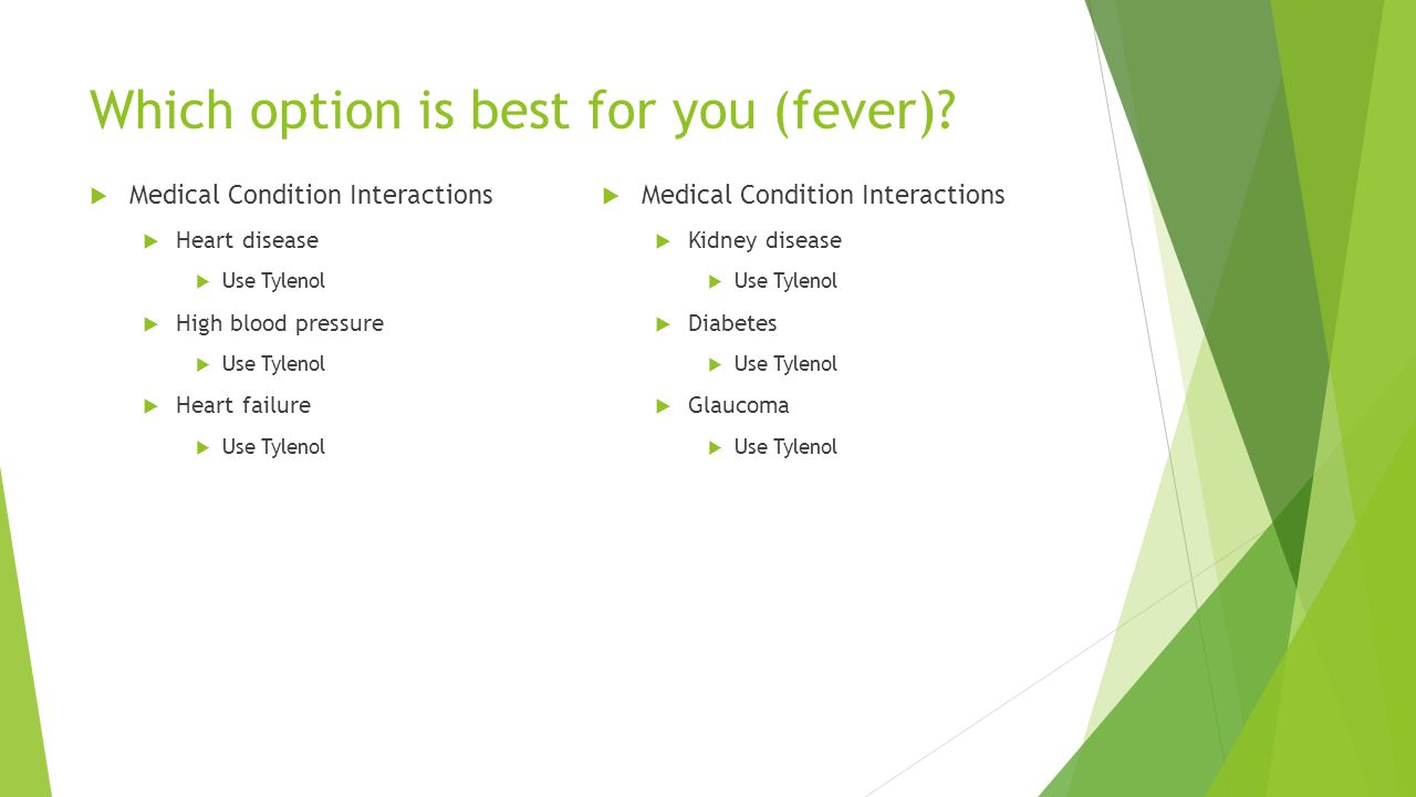 Which option is best for you (fever)