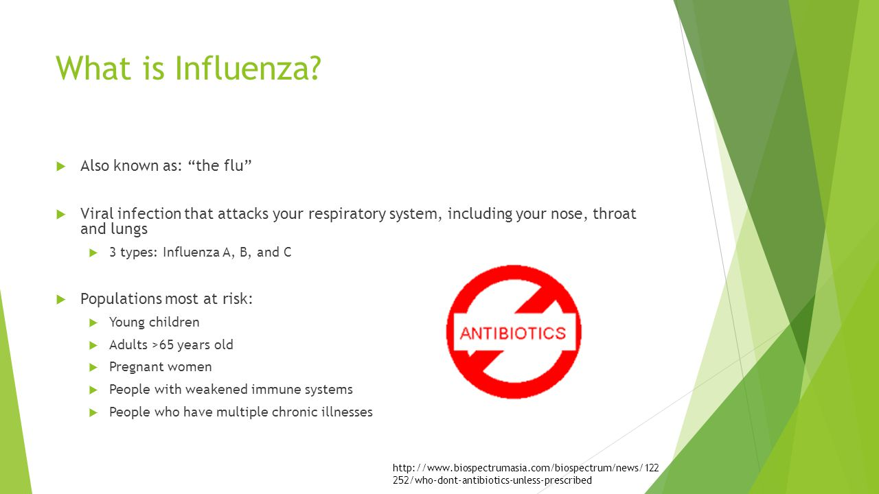 What is Influenza Also known as: the flu