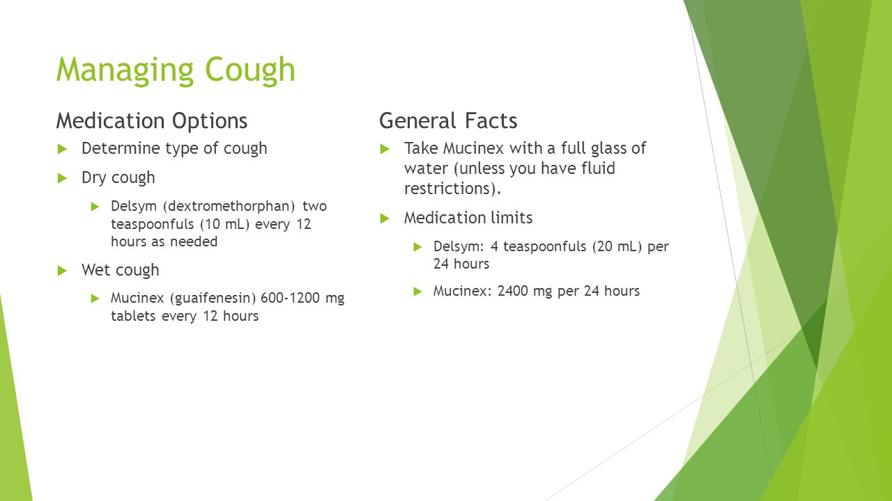 Managing Cough Medication Options General Facts