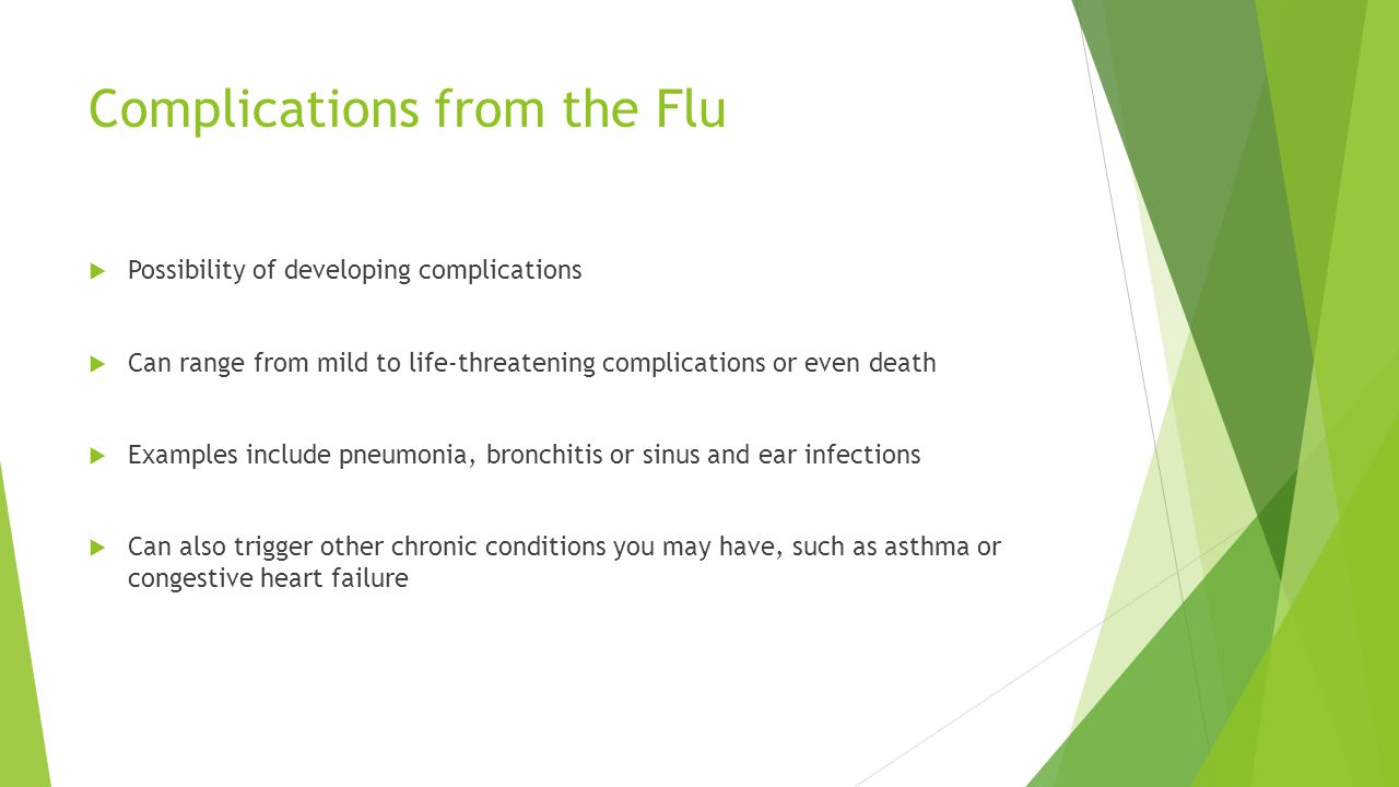 Complications from the Flu