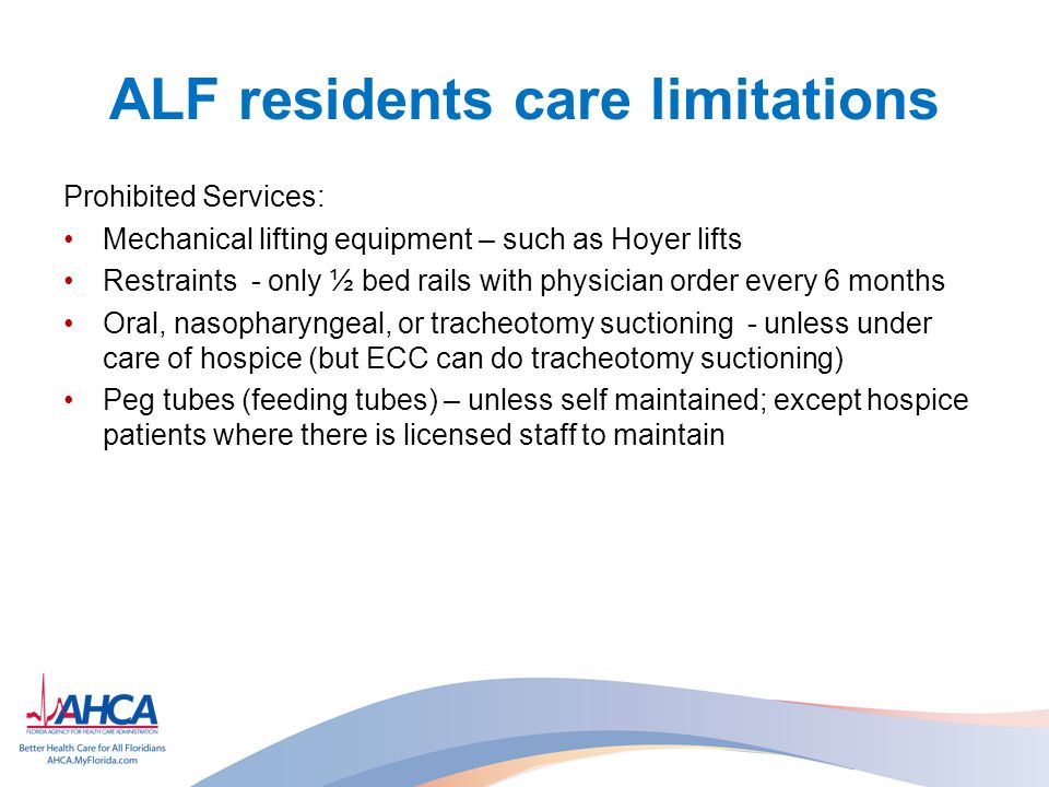 ALF residents care limitations