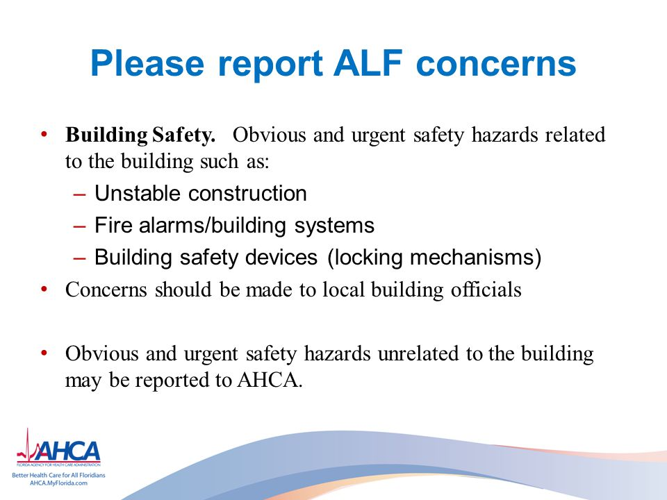 Please report ALF concerns