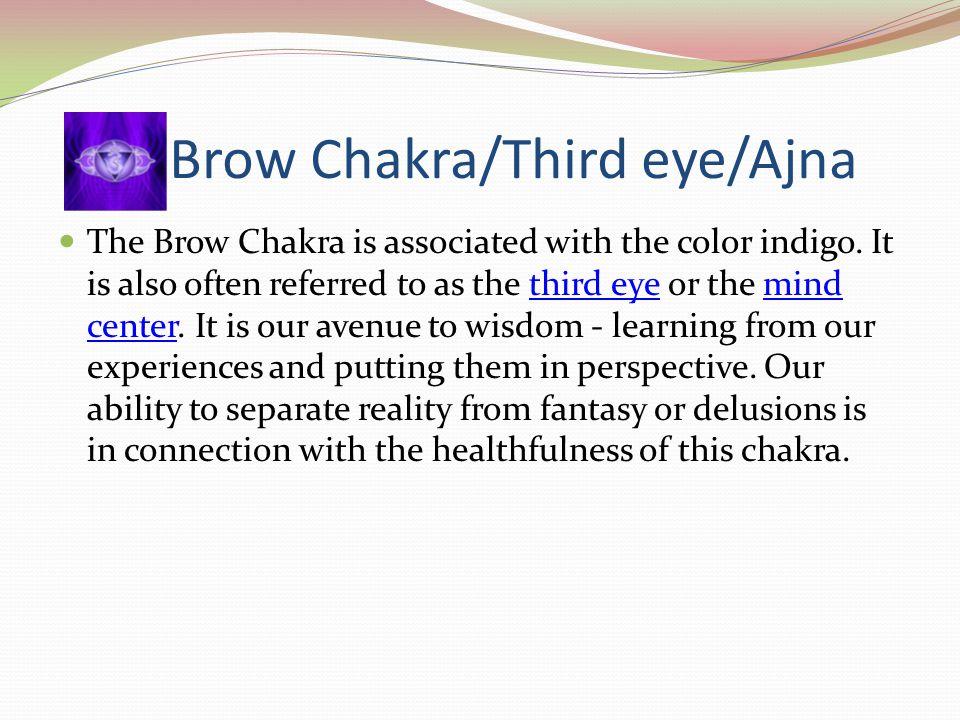 Brow Chakra/Third eye/Ajna