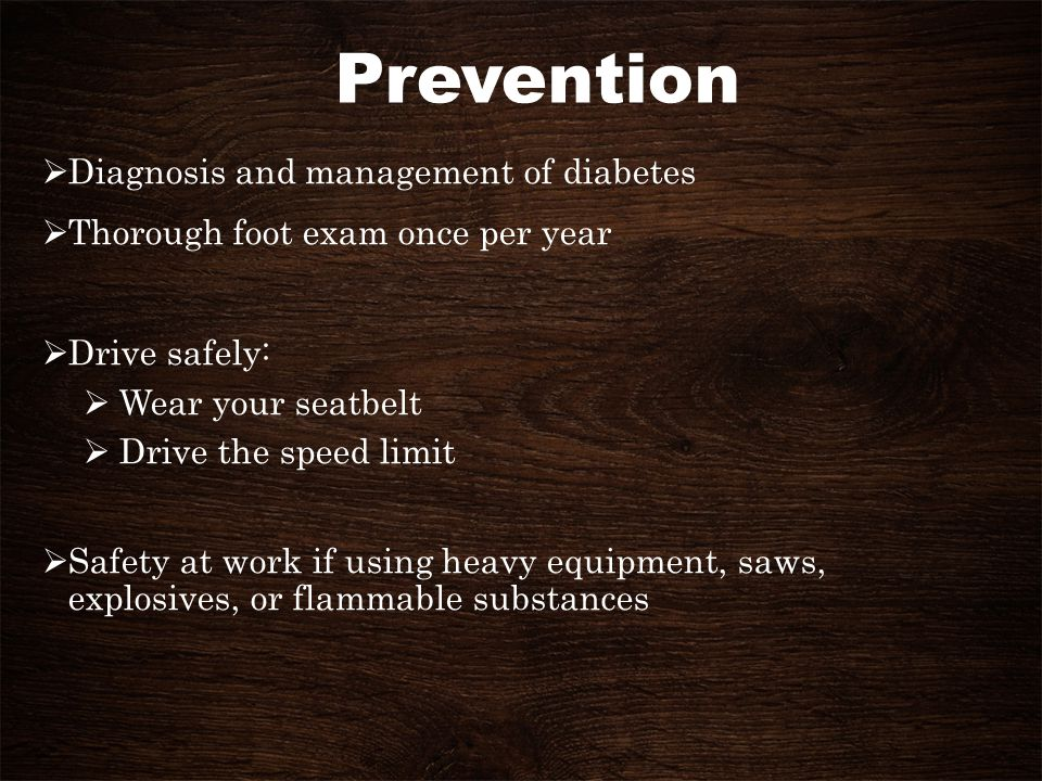 Prevention Diagnosis and management of diabetes