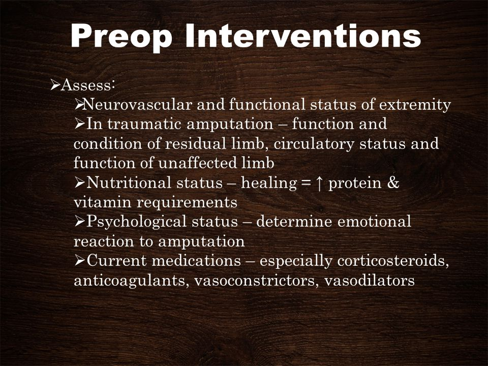Preop Interventions Assess: