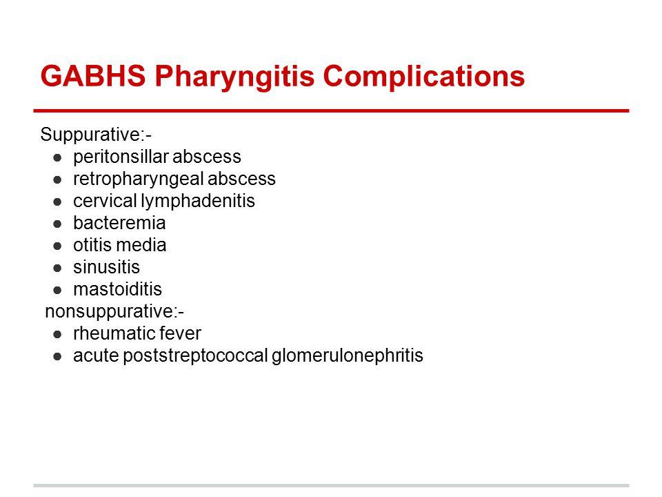 GABHS Pharyngitis Complications