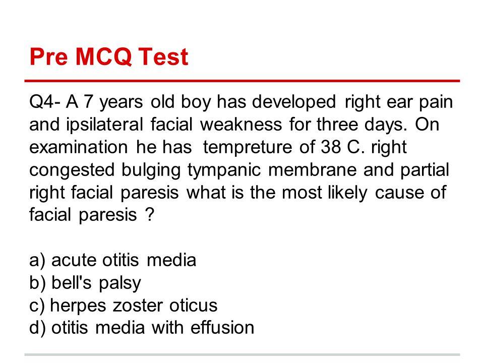 Pre MCQ Test