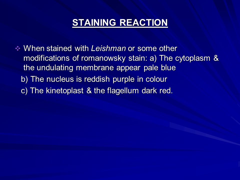 STAINING REACTION