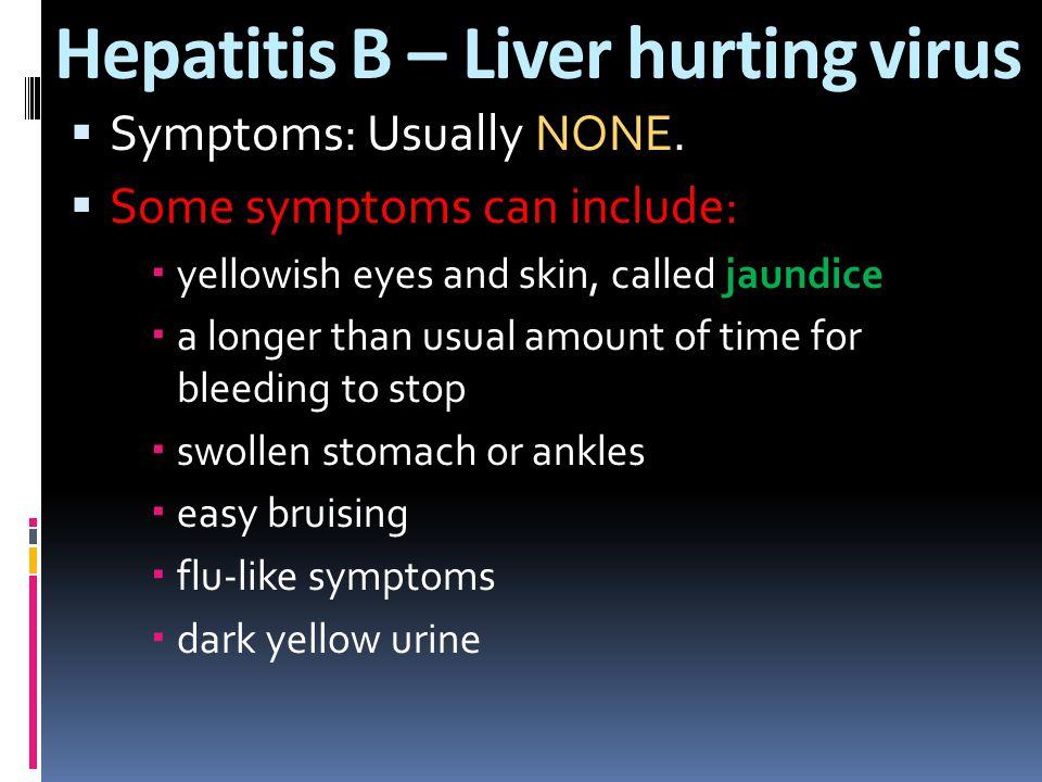 Hepatitis B – Liver hurting virus