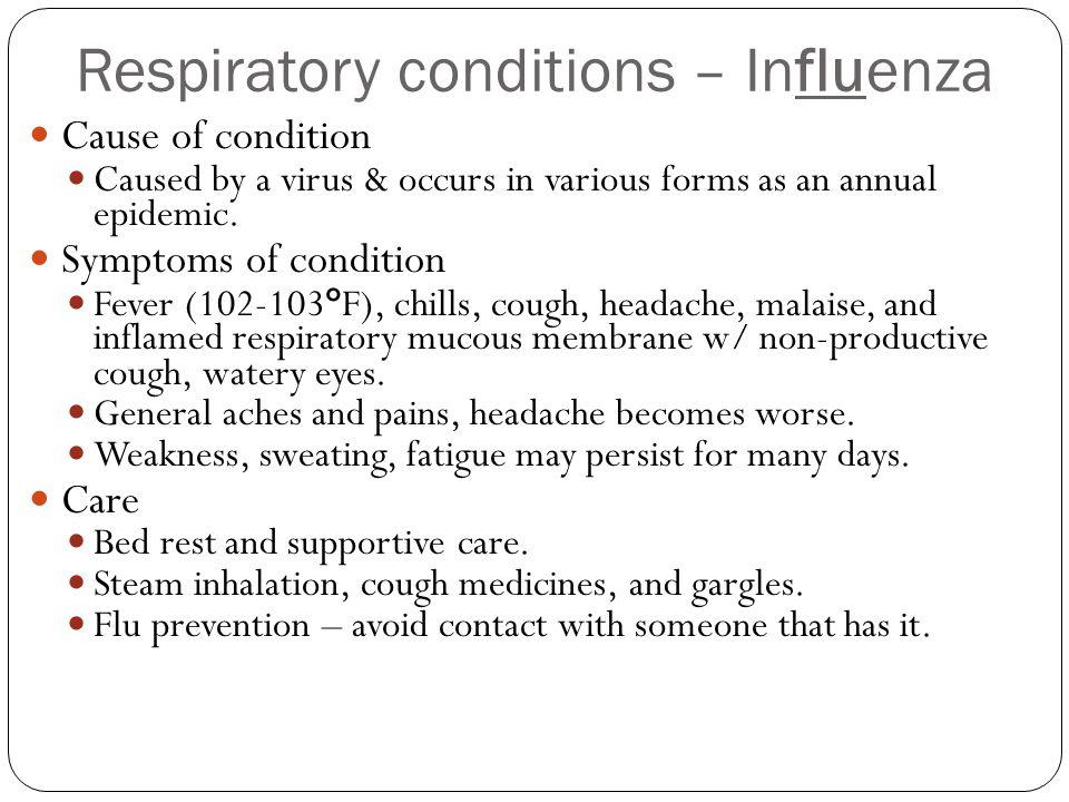 Respiratory conditions – Influenza