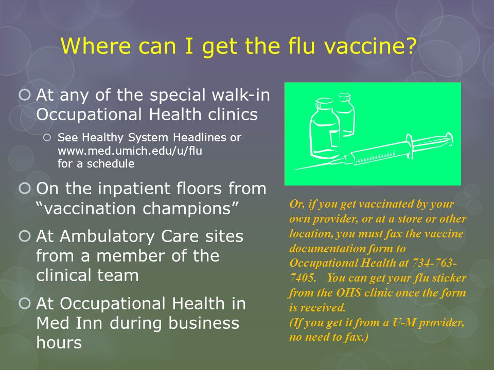 Where can I get the flu vaccine