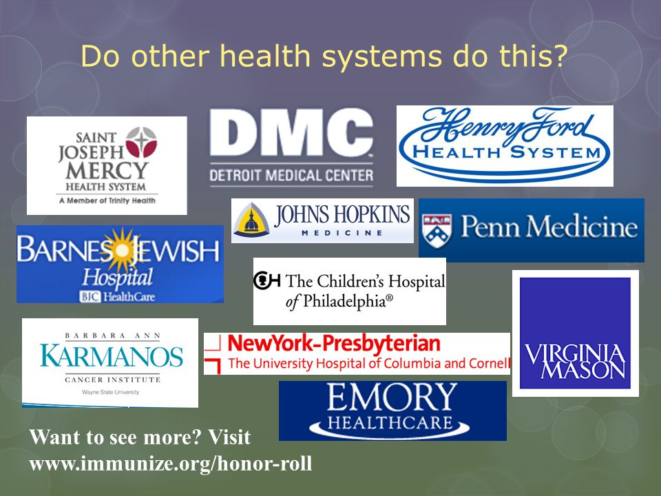 Do other health systems do this