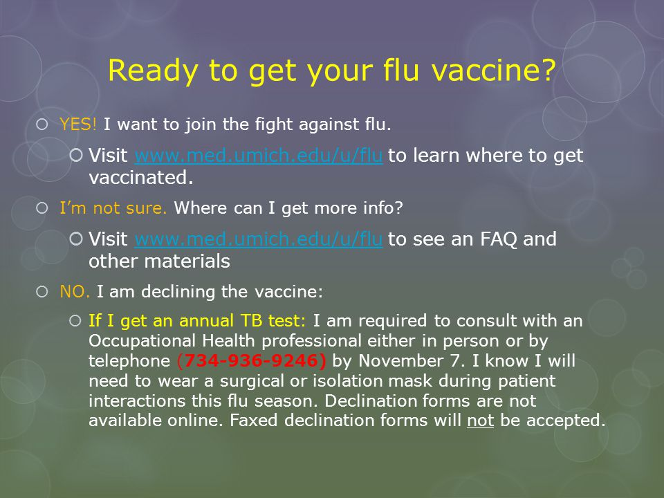 Ready to get your flu vaccine