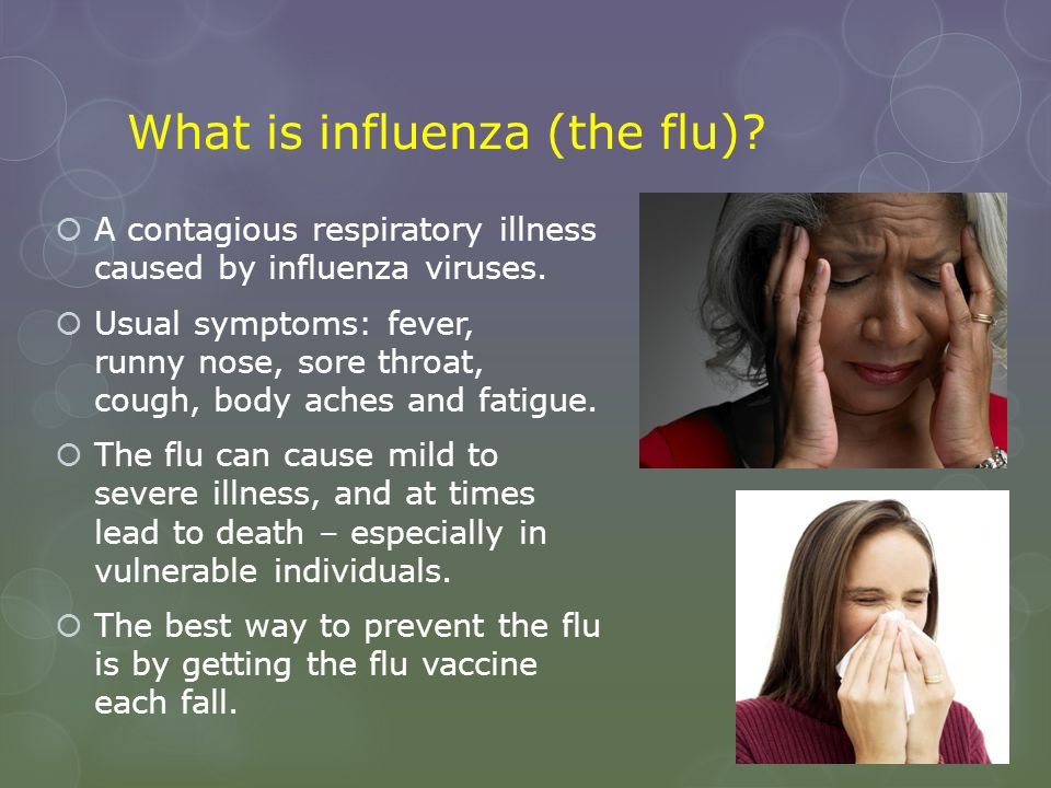 What is influenza (the flu)