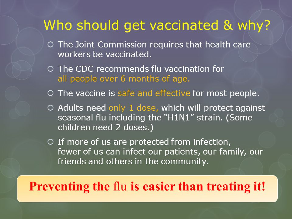 Who should get vaccinated & why
