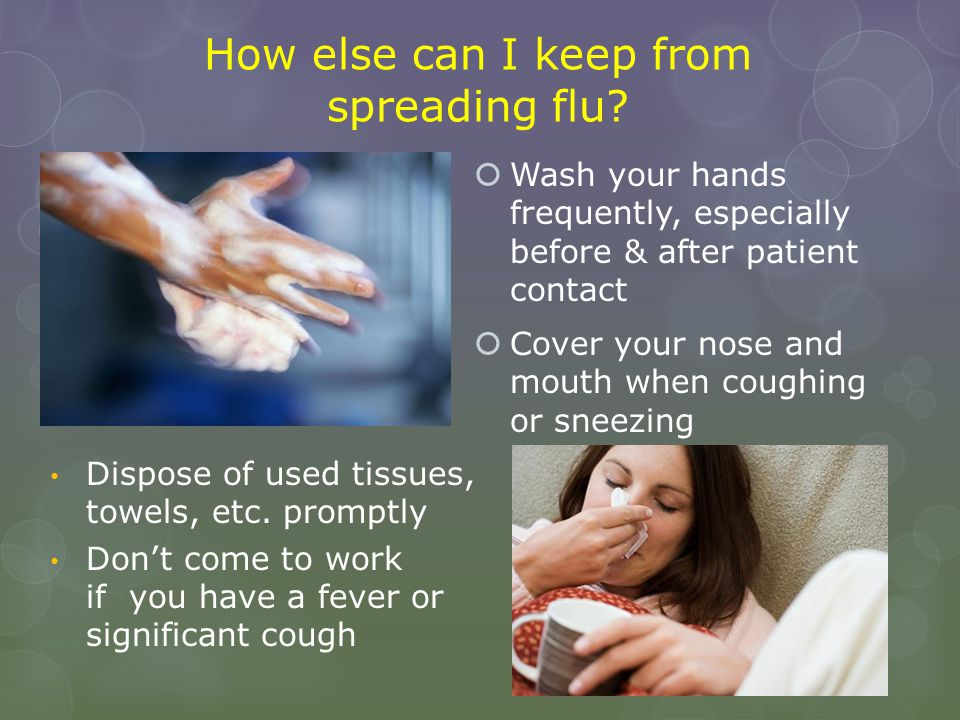 How else can I keep from spreading flu