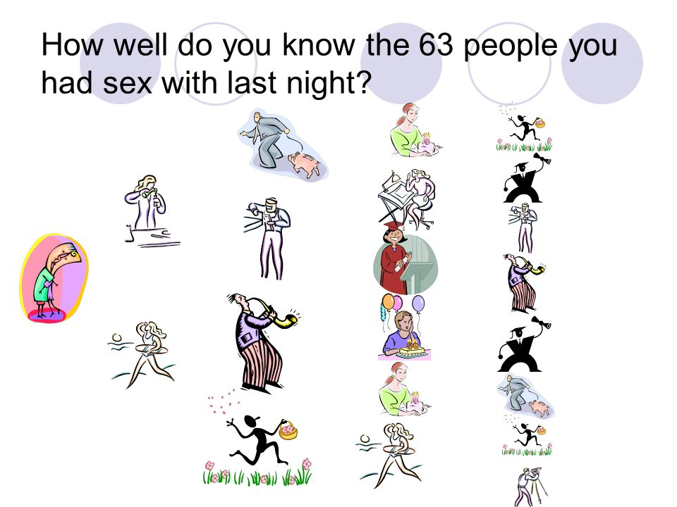 How well do you know the 63 people you had sex with last night