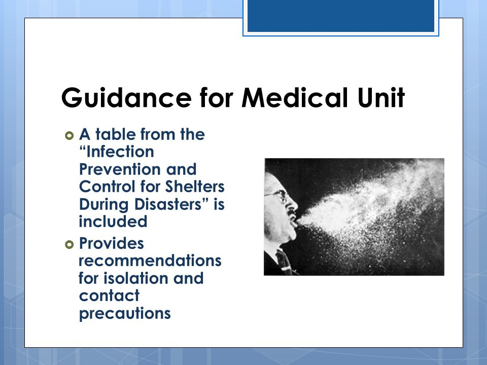 Guidance for Medical Unit