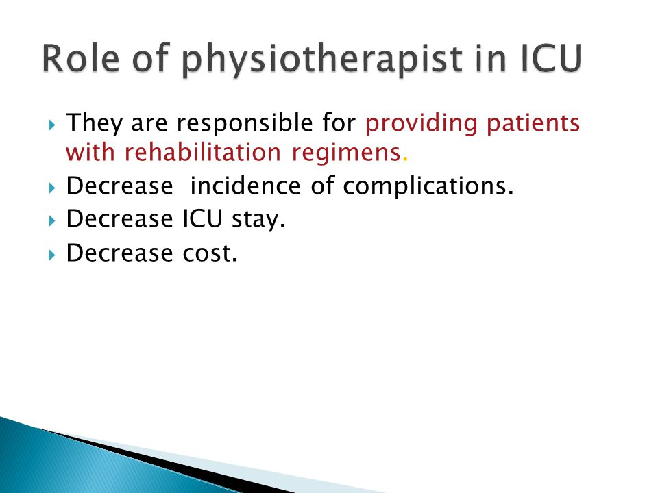 Role of physiotherapist in ICU