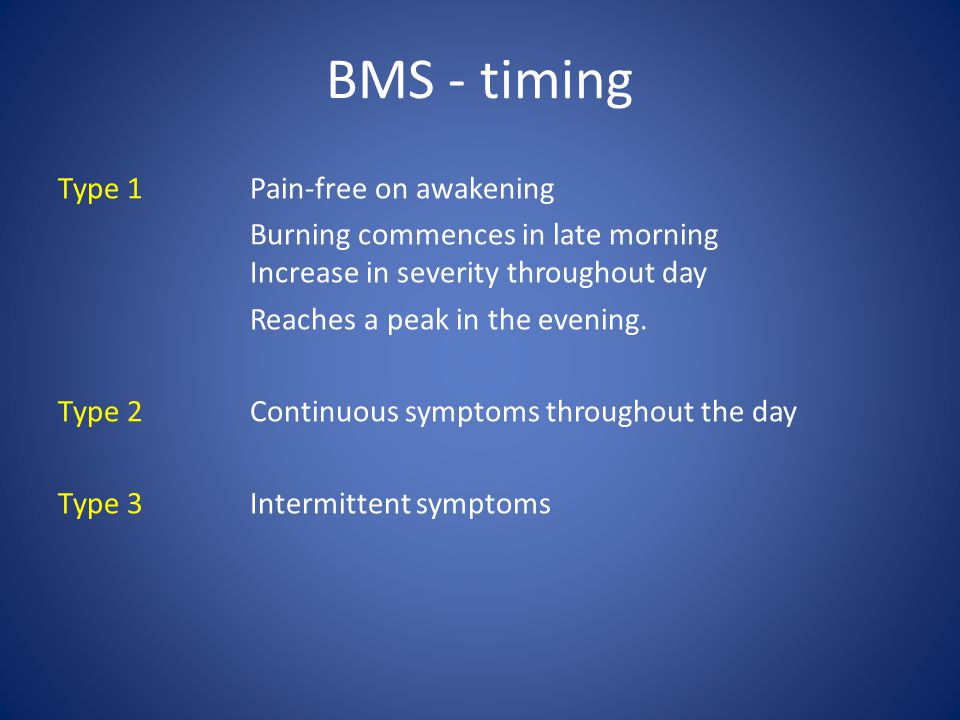 BMS - timing