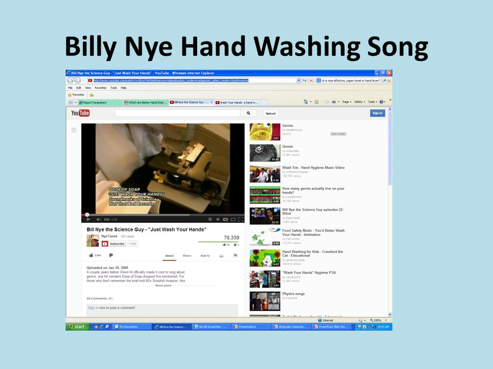 Billy Nye Hand Washing Song