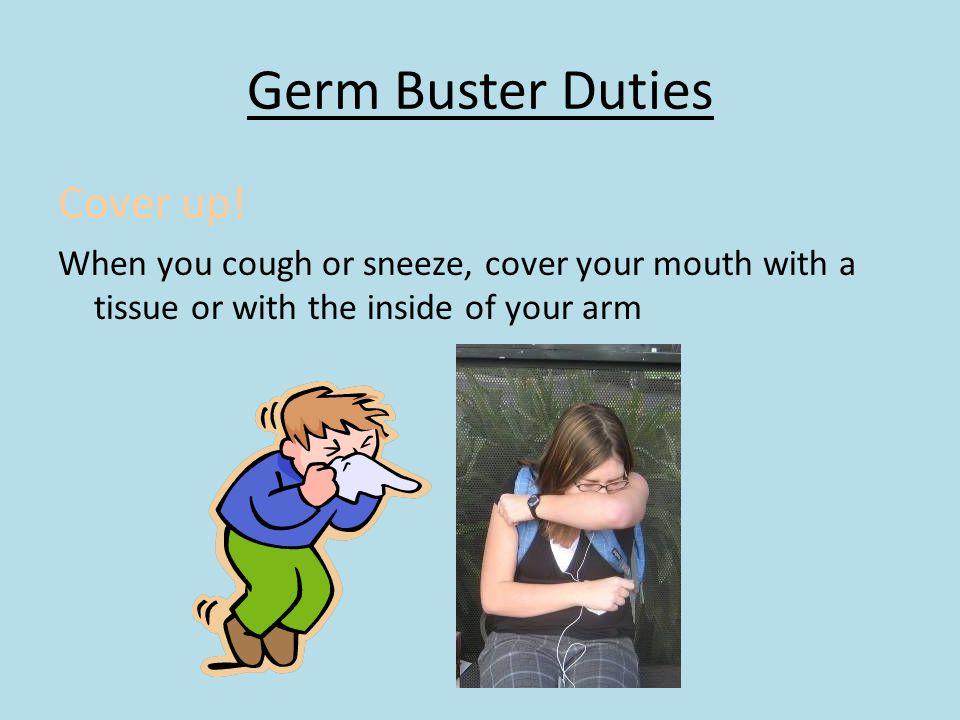 Germ Buster Duties Cover up!