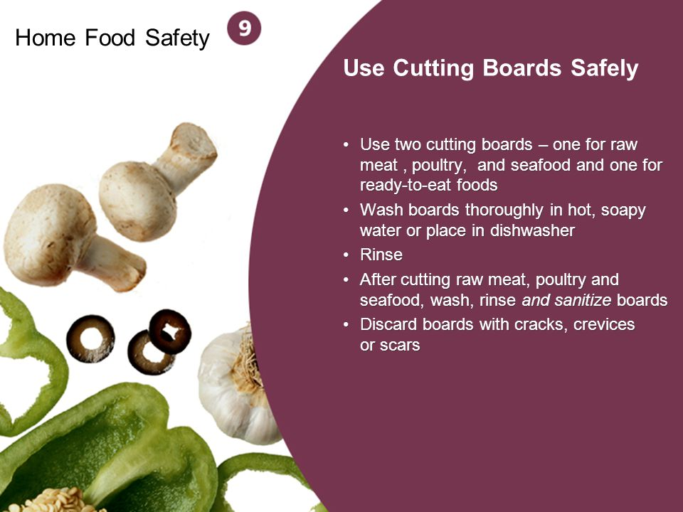 Use Cutting Boards Safely