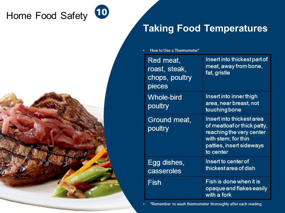 Taking Food Temperatures