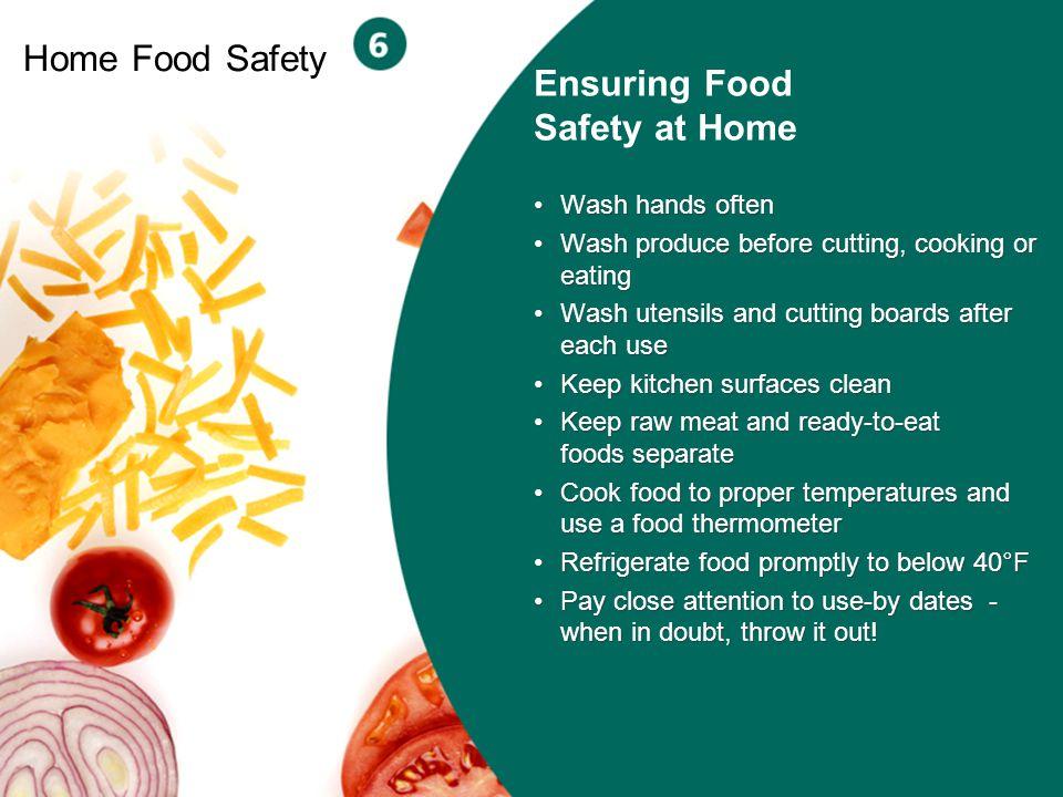 Ensuring Food Safety at Home