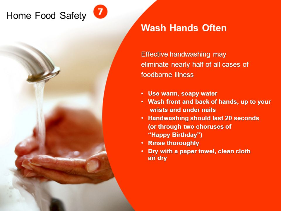 Home Food Safety Wash Hands Often Effective handwashing may