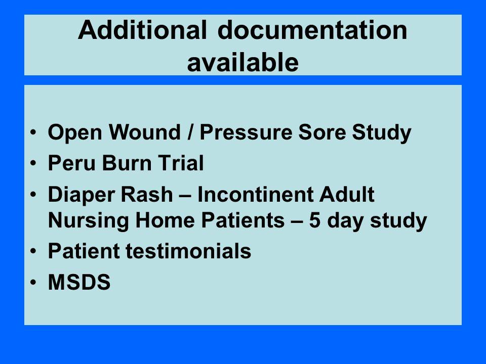 Additional documentation available
