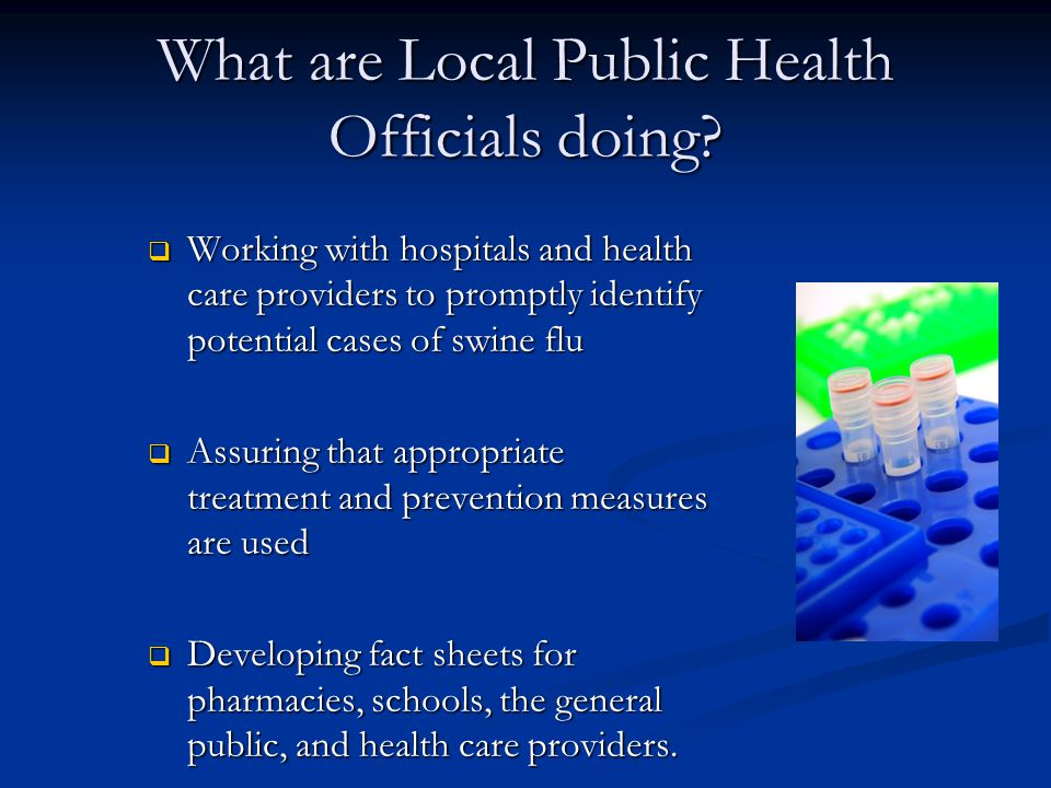 What are Local Public Health Officials doing