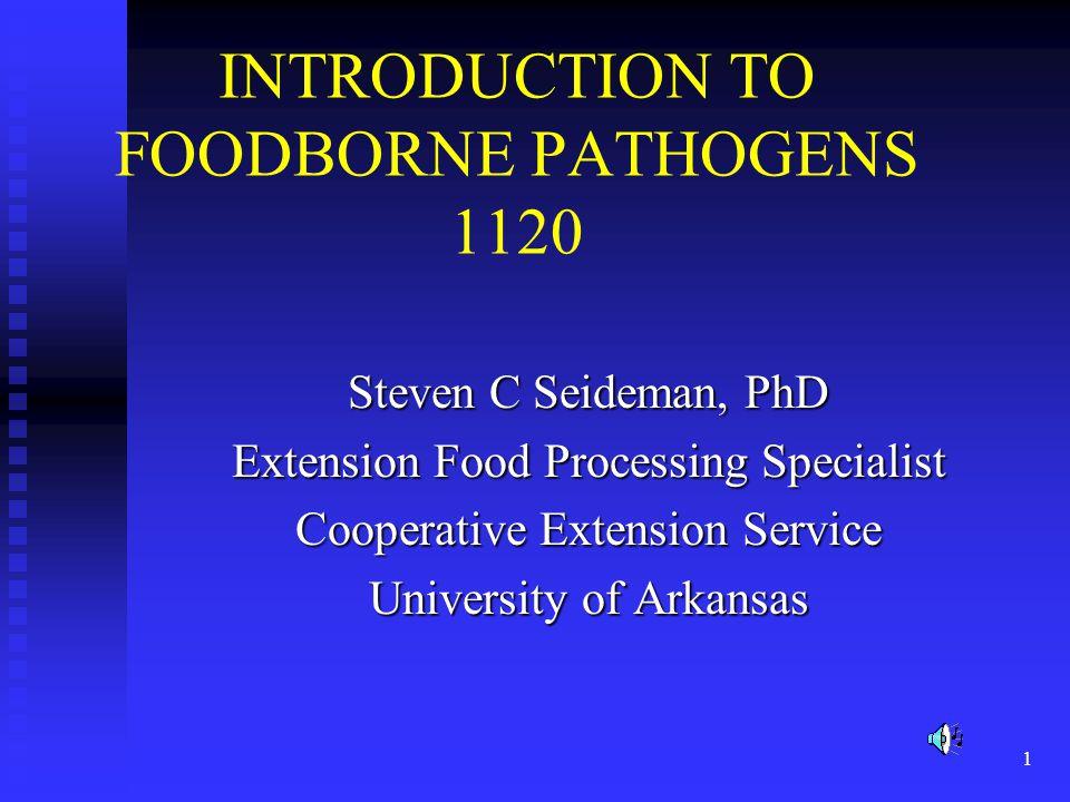 INTRODUCTION TO FOODBORNE PATHOGENS 1120