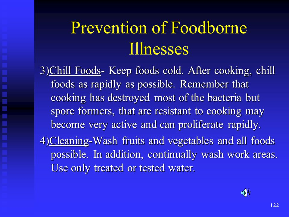 Prevention of Foodborne Illnesses