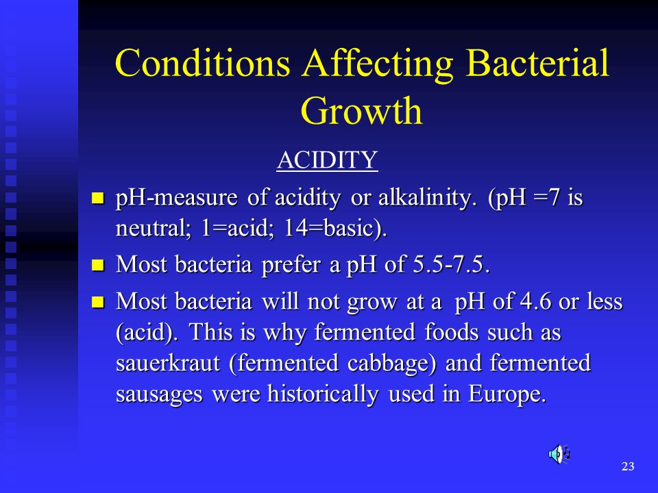 Conditions Affecting Bacterial Growth