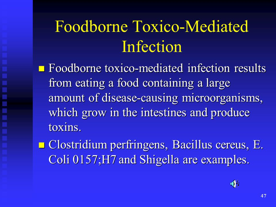 Foodborne Toxico-Mediated Infection