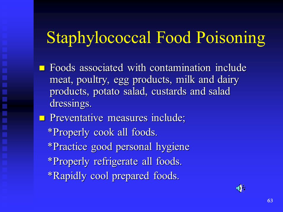 Staphylococcal Food Poisoning