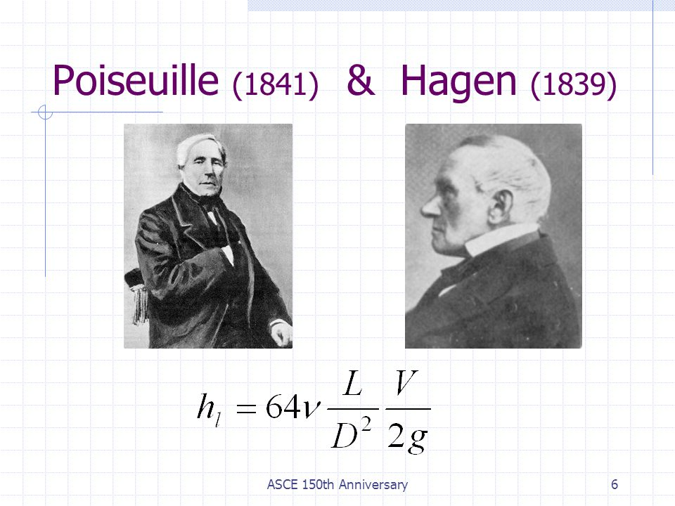 Poiseuille (1841) & Hagen (1839)