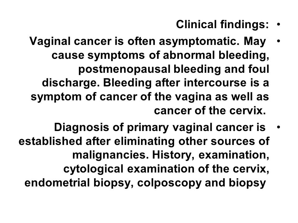 Clinical findings: