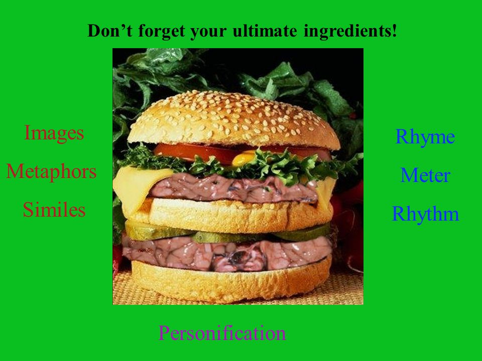 Don't forget your ultimate ingredients!