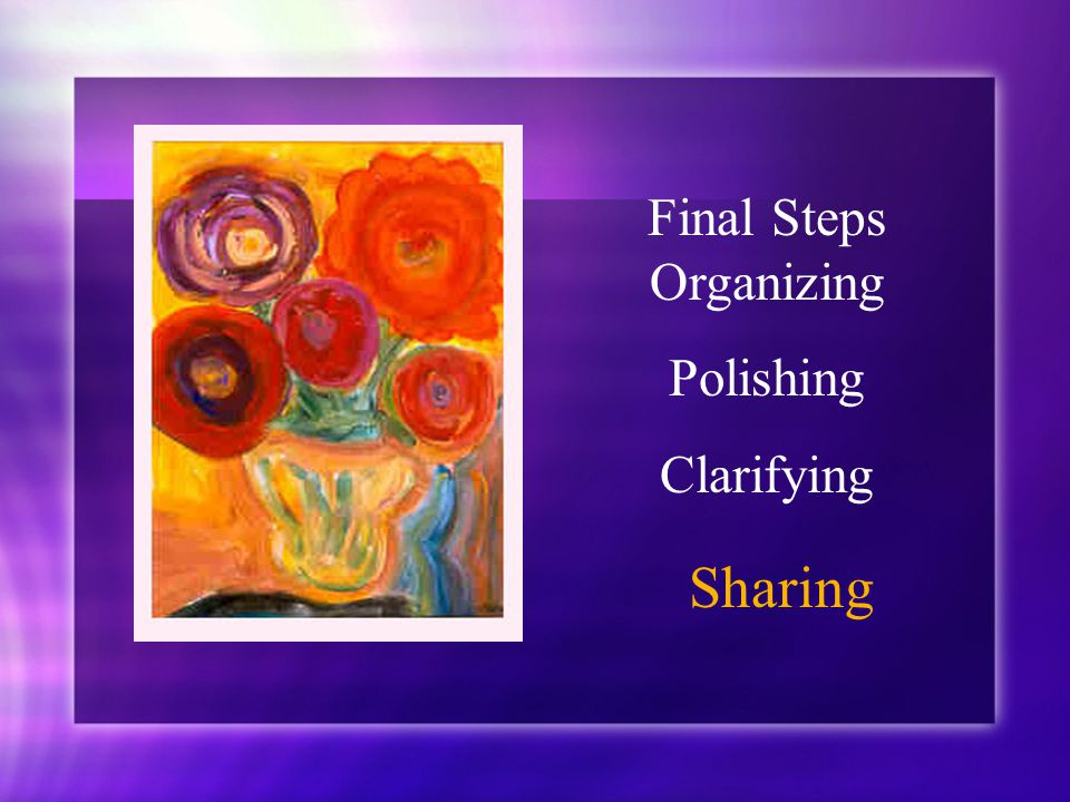 Final Steps Organizing