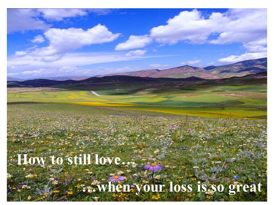 How to still love… …when your loss is so great