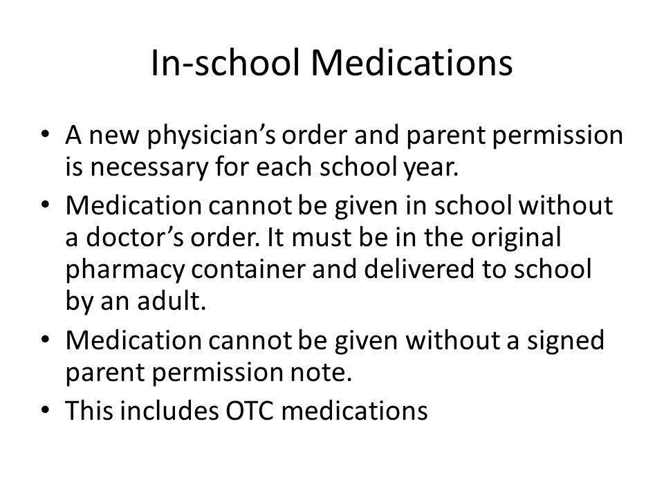 In-school Medications